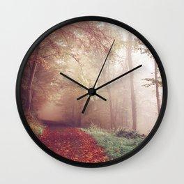 Misty Autumn Day Wall Clock