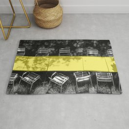 table in yellow Rug