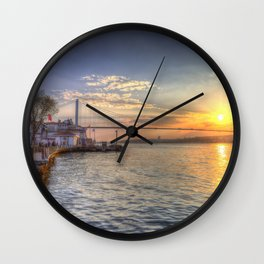 Istanbul Turkey Bosphorus Wall Clock