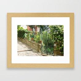 Garden Gate, Brunate Framed Art Print