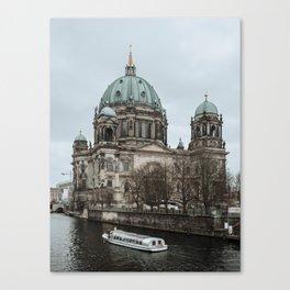 Boat ride in the Spree in Berlin Canvas Print