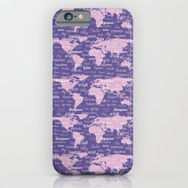 Hello World Languages Ultra Violet iPhone Case