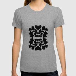 cutout shapes-black T-shirt