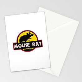 mouse rat logo jurasic parody Stationery Cards