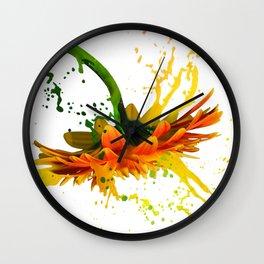 Liquid Daisy Wall Clock