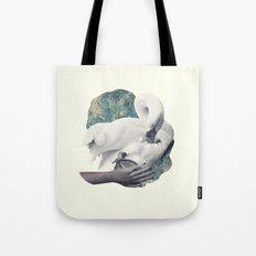 Hand Swan Tote Bag