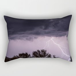 Lightning storm in the mountains Rectangular Pillow