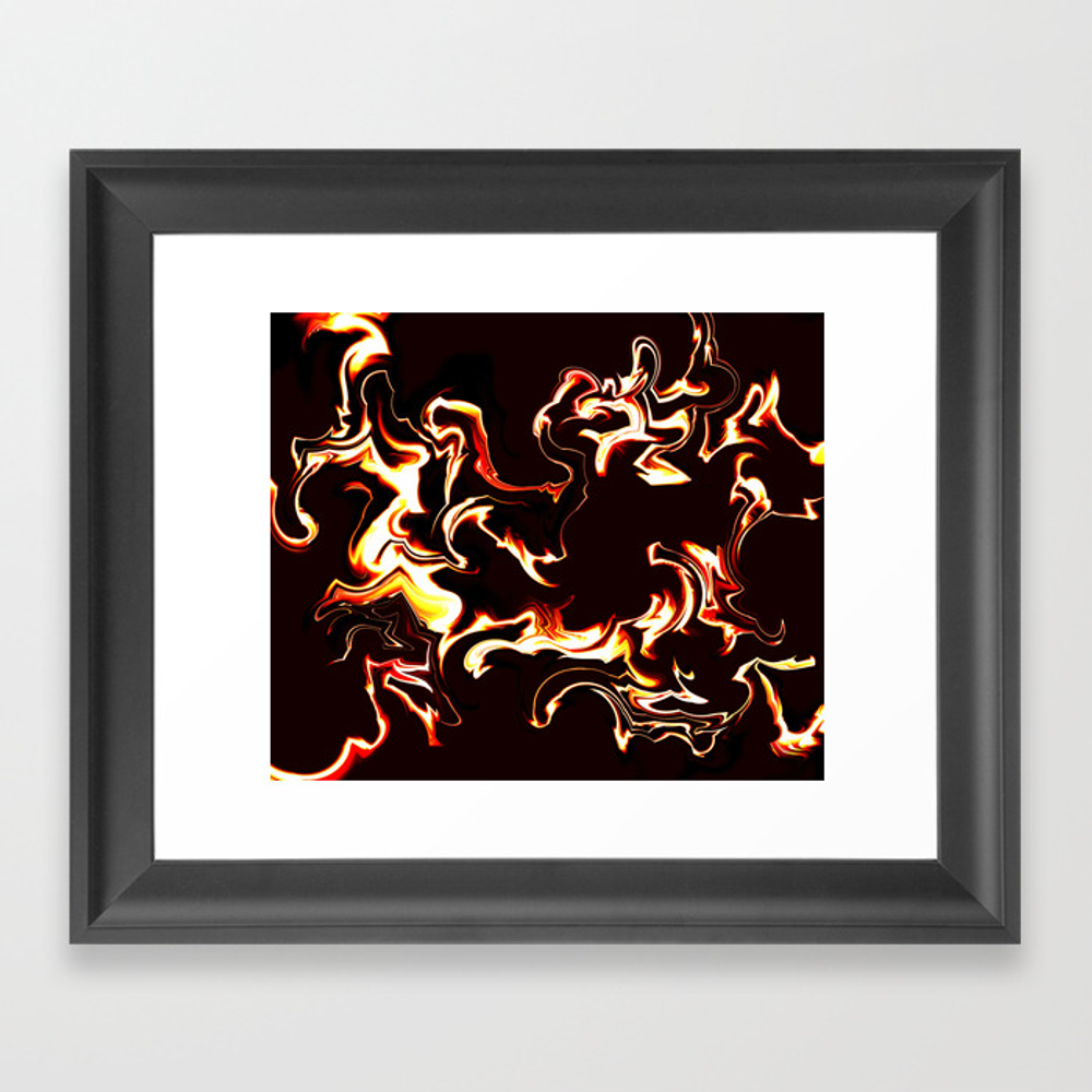 Burn Baby Burn Framed Art Print by Vwdigitalpainting FRM8762319