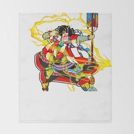 "Kabuki ""lightning arrow"" Throw Blanket"