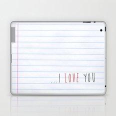...I Love you Laptop & iPad Skin