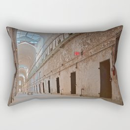 Abandoned Prison Corridor Rectangular Pillow