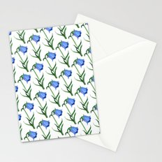 Watercolor hand-drawn flowers pattern  Stationery Cards