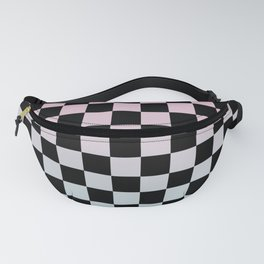 Gradient Checkerboard Fanny Pack