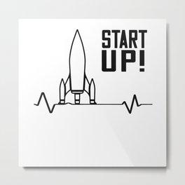 Start-up Rocket Entrepreneurship Metal Print