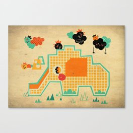 Elephant Playground Canvas Print