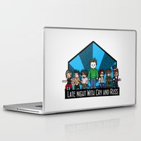 kevin russ Laptop & iPad Skins featuring Late Night with Cry and Russ Pixel Art by Danielbpc