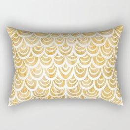Watercolor Mermaid Topaz Rectangular Pillow