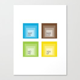 Homage to Beer Ingredients Canvas Print
