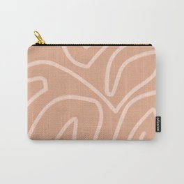 Modern abstract art in peachy brown Carry-All Pouch
