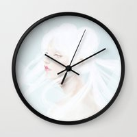 sailormoon Wall Clocks featuring Queen Serenity by Pastellish