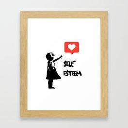 Self Esteem - Banksy Framed Art Print