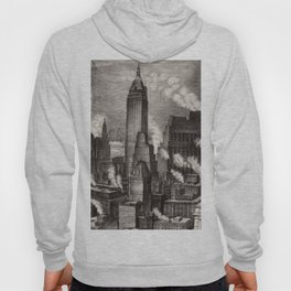Harlem Renaissance Masterpiece 'NYC Skyscrapers' by Isac Friedlander Hoody