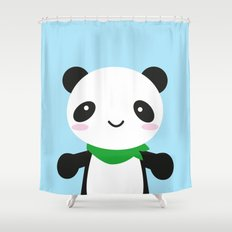 Super Cute Kawaii Panda Shower Curtain