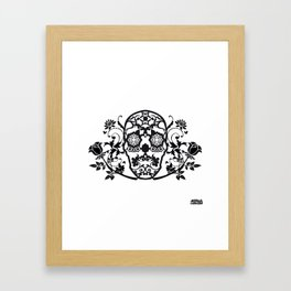 SKULL FLOWER 01 Framed Art Print