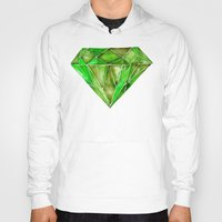 geode Hoodies featuring Peridot by Cat Coquillette