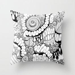 Viscera Phantasma Doodle Throw Pillow