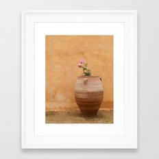 Mediterranean Urn Framed Art Print