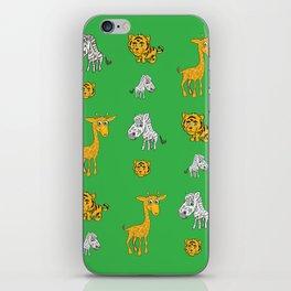 Cute Jungle Animals Pattern  iPhone Skin