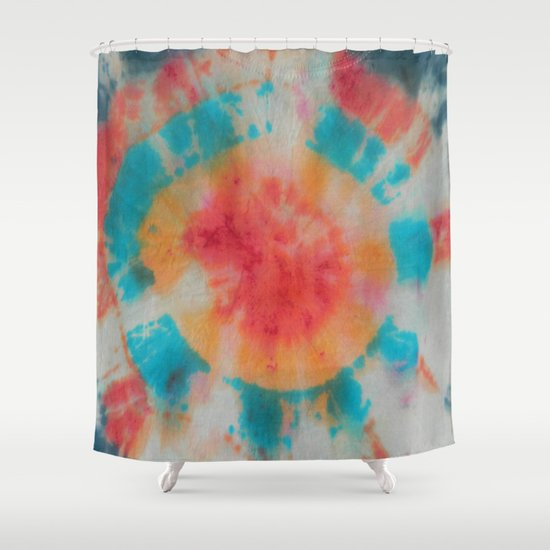 Tie Dye Multi Colored Bullseye Shower Curtain By Bravuramedia Society6
