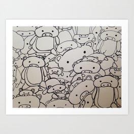 Pigs! Art Print
