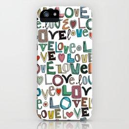 l o v e LOVE white iPhone Case