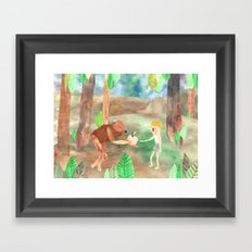 how I met my brother (part 2) Framed Art Print