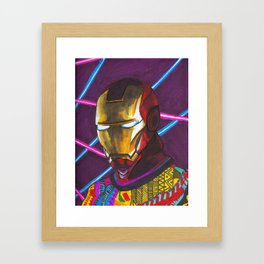 Iron Man in a Cosby sweater Framed Art Print