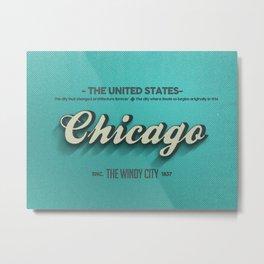 Vintage Chicago Metal Print