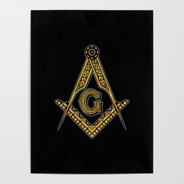 Freemason (Black & Gold) Poster