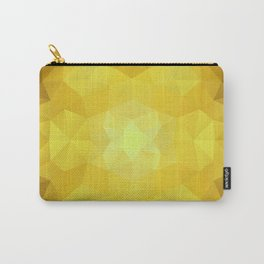 Triangles design in yellow colors Carry-All Pouch