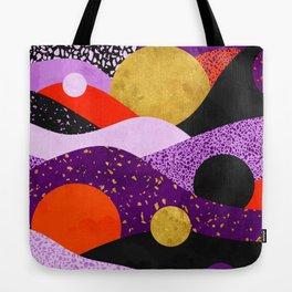Terrazzo galaxy purple orange gold Tote Bag