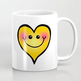 Happy Smiling Heart Shape Coffee Mug