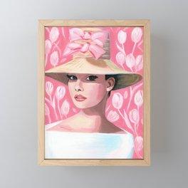Audrey pretty in pink. Framed Mini Art Print