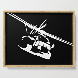 H-53/CH-53 Military Helicopter Serving Tray
