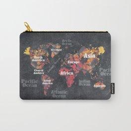 world map 113 #map #worldmap Carry-All Pouch