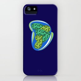 Green petal iPhone Case
