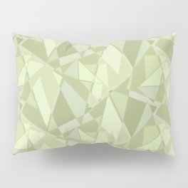 Abstract geometric. Shades of pistachio. Pillow Sham