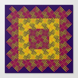Dot Swatch Equivocated on Purple Canvas Print