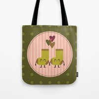 socks Tote Bags featuring socks by ValoValo