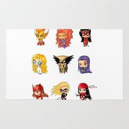 Chibi Heroines Set 3 Rug